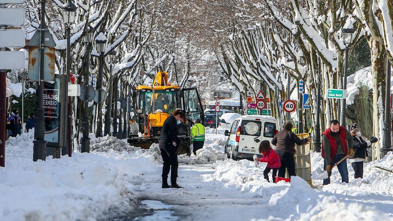 Todas las imágenes del temporal de nieve.Alsa
