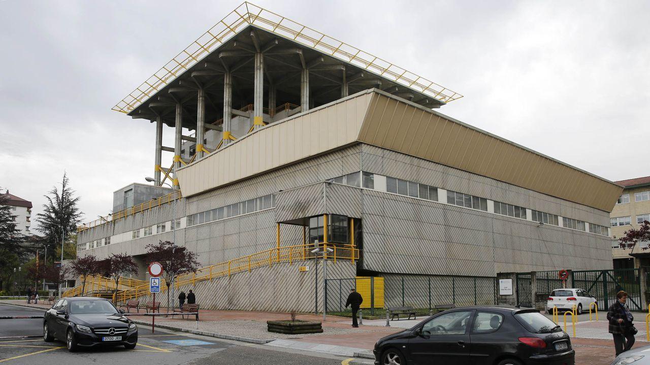 Protesta de los trabajadores de Ence.Comisaría de Ourense