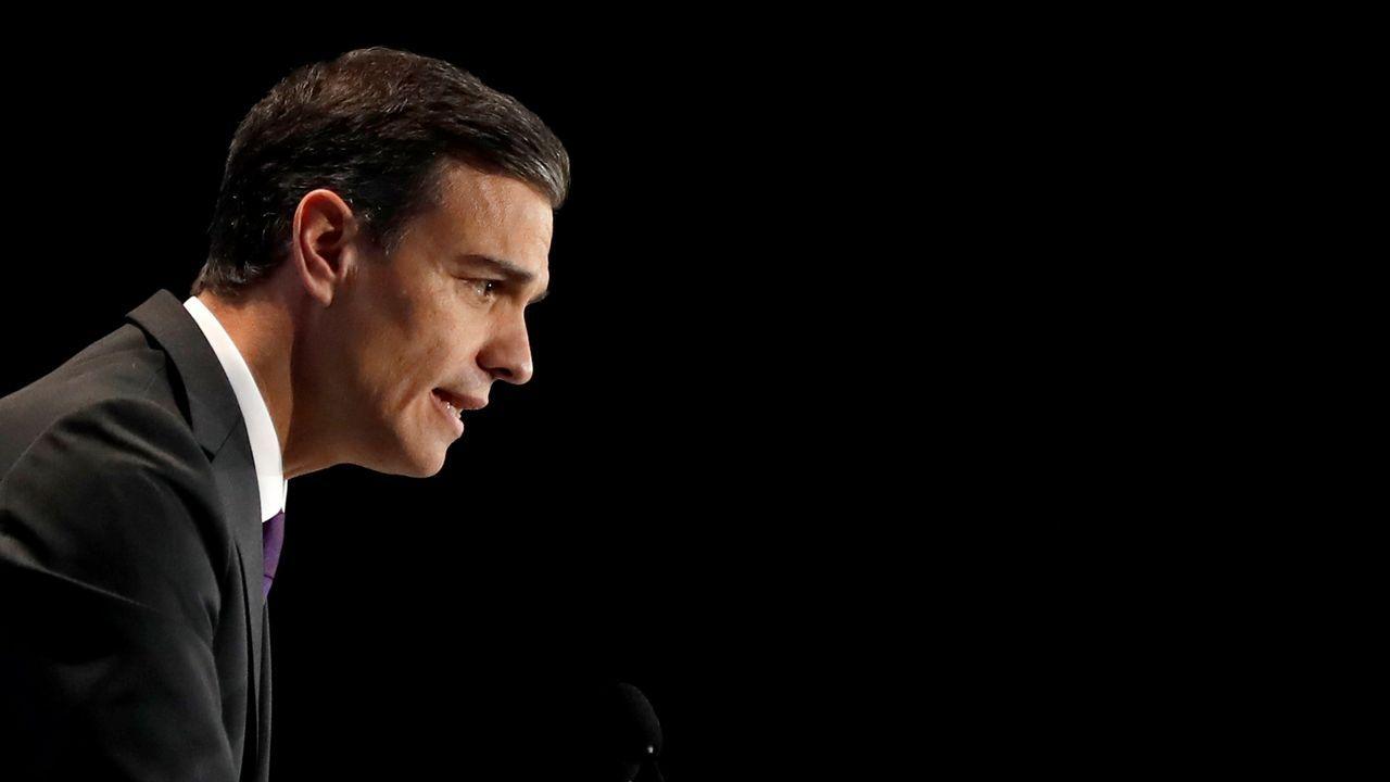 La última sesión de control se convierte en el primer debate electoral.El presidente del Gobierno español, Pedro Sánchez, durante su intervención en la sesión inaugural de la Cumbre del Clima (COP24) que tiene lugar hoy en Katowice (Polonia).