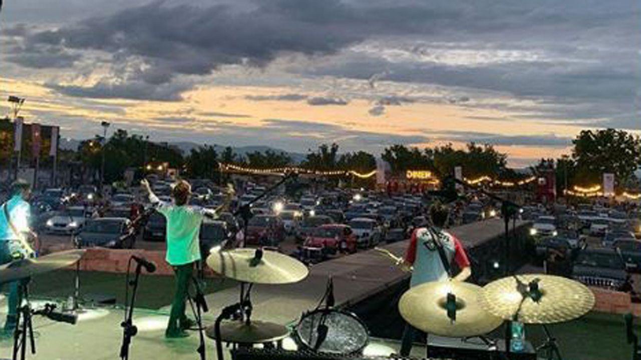 El grupo asturiano Marlon en su concierto en el Autocine Madrid Race