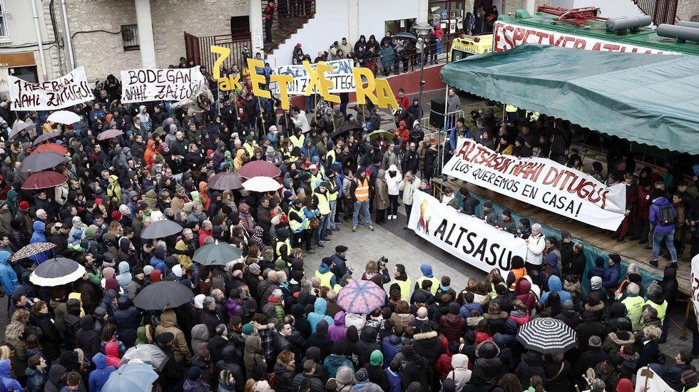 Manifestación en Alsasua.Pablo Iglesias