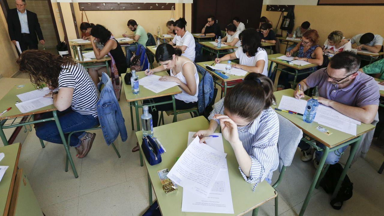 Este año se inscribieron en las oposiciones de Educación en Galicia casi 19.000 personas