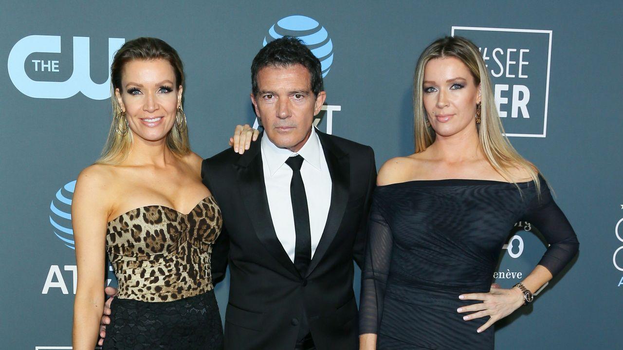 Antonio Banderas y Barbara Kimpel, en el Critics' Choice Awards