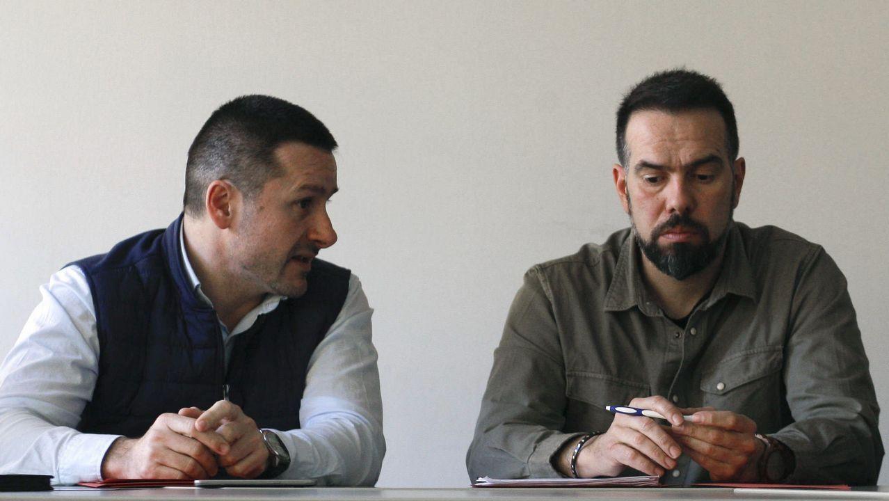 Los secretarios generales de la UGT y de CCOO de Asturias, Javier Fernández Lanero y José Manuel Zapico