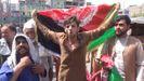 Las protestas tuvieron lugar en Jalalabad, capital de la provincia de Nangarhar, una de las últimas ciudades en caer en manos de los talibanes.