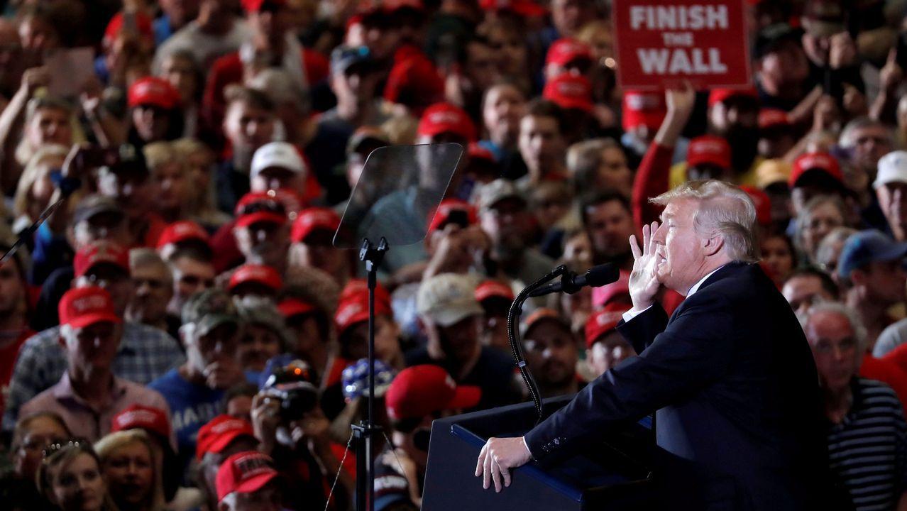 Trump participí anoche en los cierres de la campaña a las legislativas en Cleaveland, Ohio, Indiana y Misuri