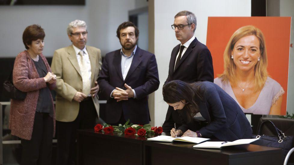 Los dirigentes de Ciudadanos Inés Arrimadas, José Manuel Villegas y Miguel Ángel Gutiérrez.