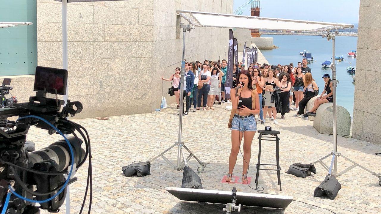 Casting de OT 2018 en Vigo.Distribución de los espacios en la explanada del parque Hermanos Castro para el festival Gijón Life