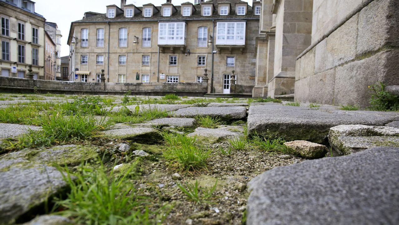 El exterior de la Catedral, por la zona del atrio, donde se harán trabajos de restauración