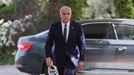 Yair Lapid, a su llegada a la residencia del presidente israeli