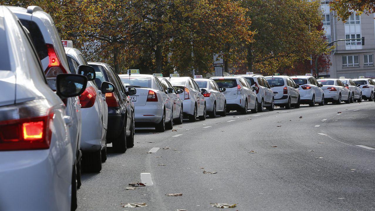 Caravana de taxis en A Coruña