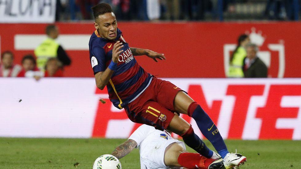 La Audiencia Nacional confirma el procesamiento del Barcelona en el caso Neymar.Neymar, en una imagen de la pasada temporada