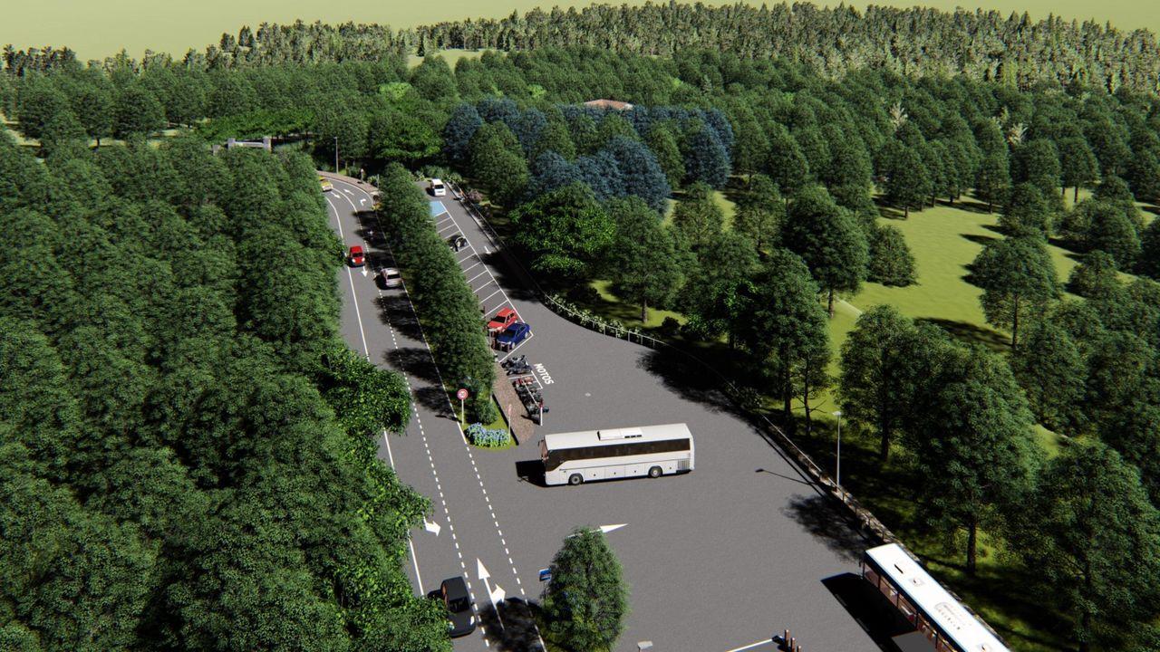 Infografía del aparcamiento del Parque Central de Galicia