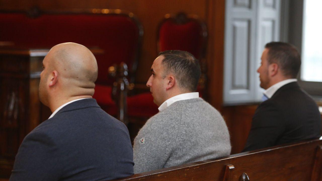 Javier López, Diego Fontán y Sántorum, durante el juicio