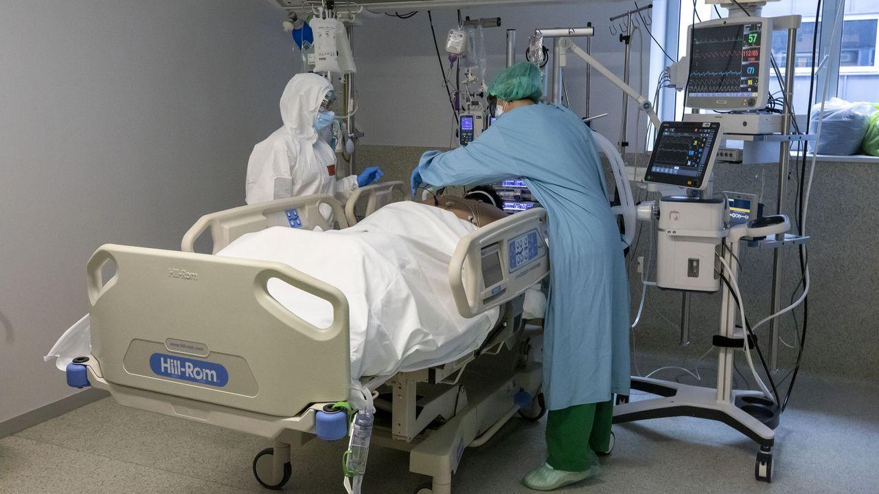 El HULA está al límite con pacientes covid de otras áreas, A Mariña, Monforte, Ferrol y A Coruña