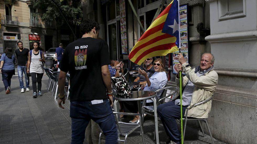 gráfico portada elecciones catalanas.Ambiente electoral en Barcelona
