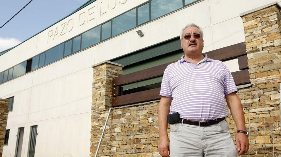David Corral, fotografiado en el 2011 frente a las instalaciones de su empresa en Bóveda