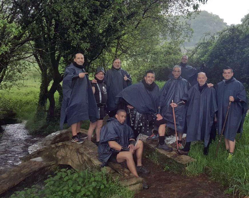 La Guardia Pretoriana completó hace unos días el Camino Primitivo desde Lugo.