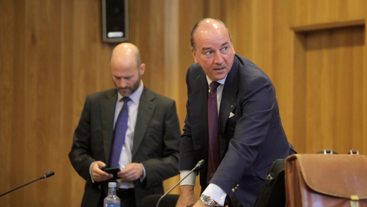 LOS DEMANDADOS. Los abogados Antonio Gil y Luis Felipe Utrera-Molina, que defendían a la familia Franco