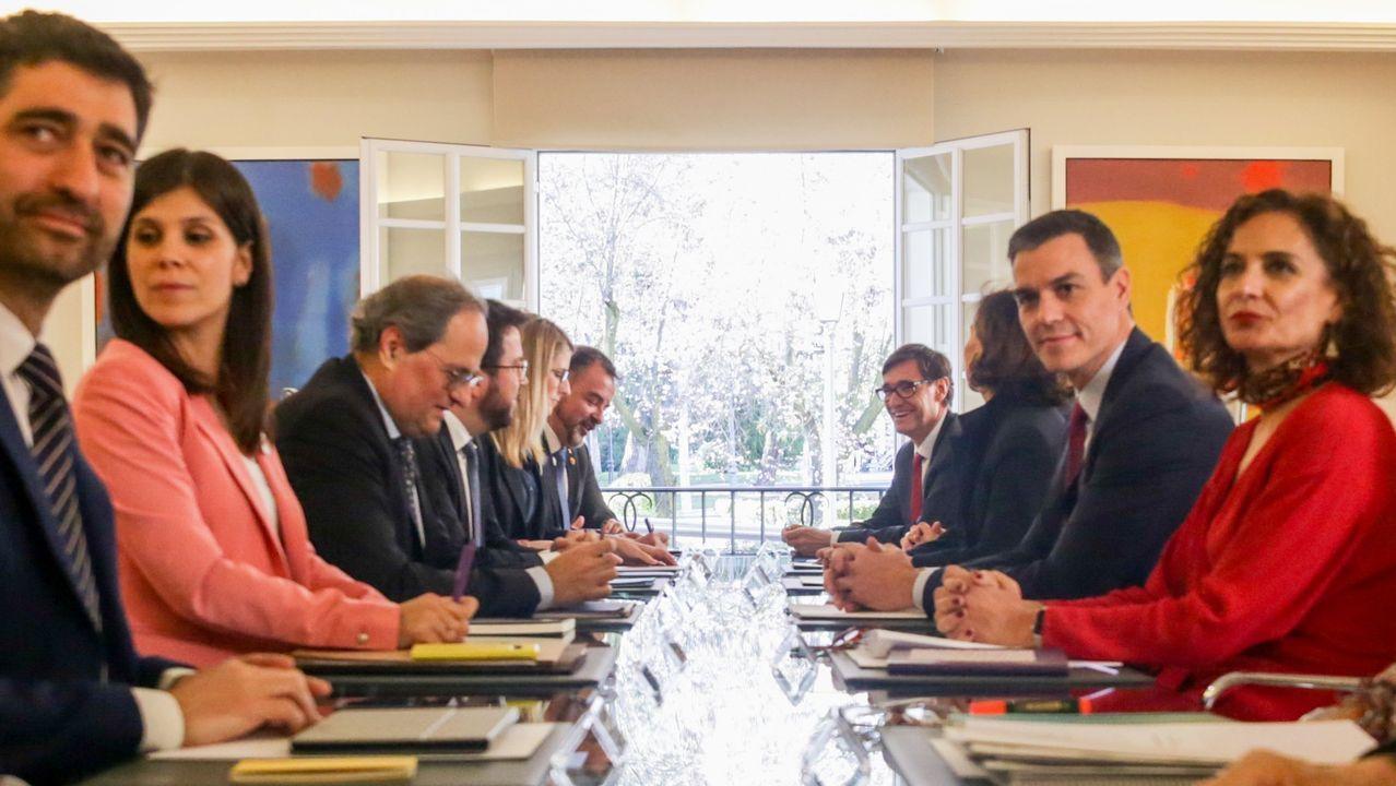 Primera reunión de la mesa de diálogo entre el Gobierno central y la Generalitat