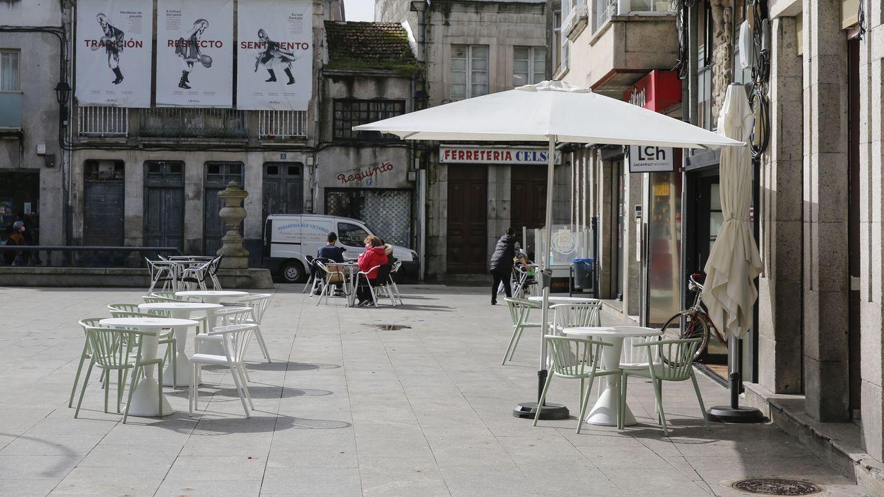 Las terrazas reabrieron en Xinzo