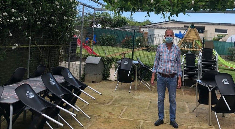 Carlos Araújo, de O Garaxe, en Crendes (Abegondo)