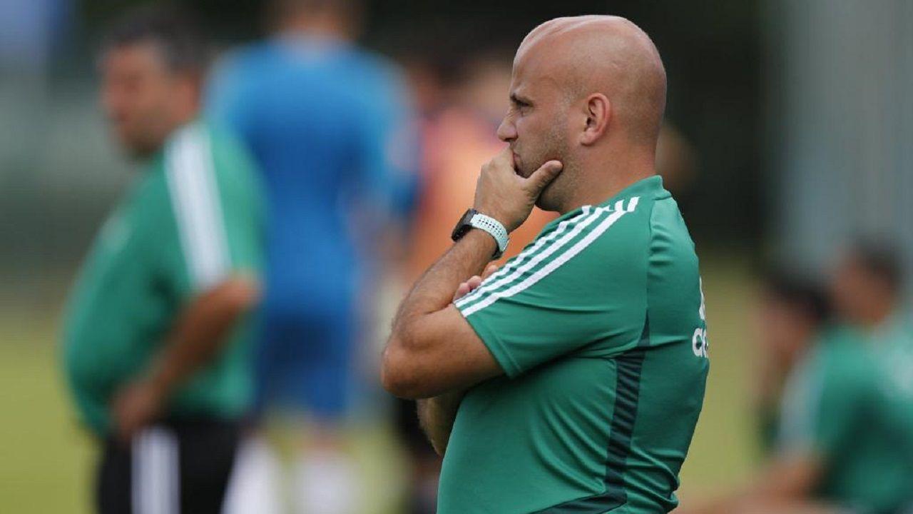 Javi Rozada Real Oviedo Vetusta Requexon.Javi Rozada, durante el encuentro ante el Real Oviedo