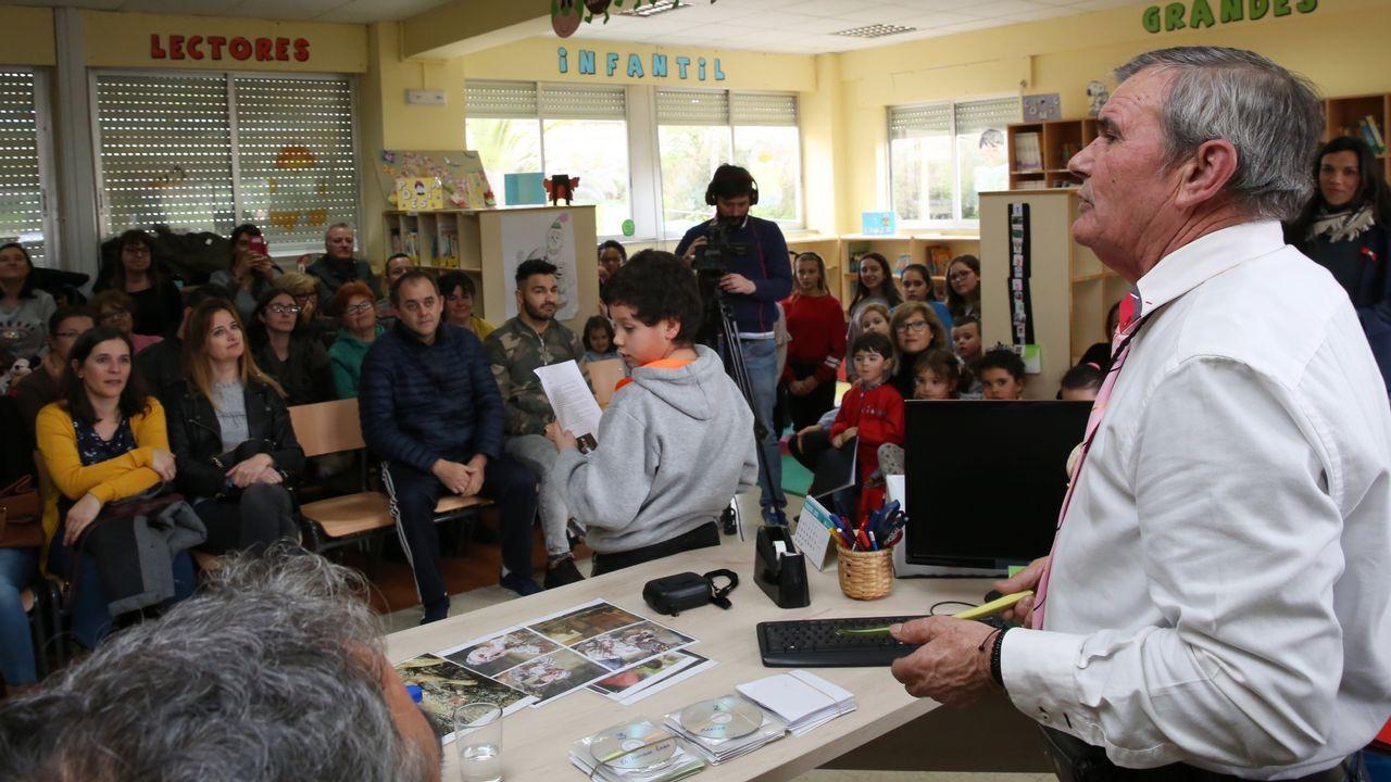 Una captura de pantalla con algunos de los participantes en el encuentro digital de los vecinos y naturales de A Ferreirúa, que asistieron desde sus sus domicilios en otras localidades de la comarca, de diferentes partes de Galicia y también de otras comunidades