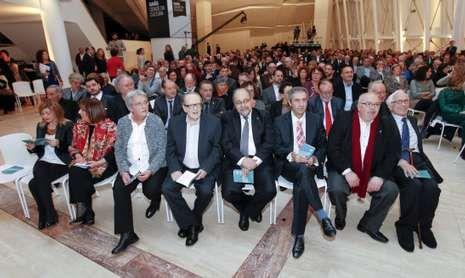 Acto de entrega dos premios, celebrado onte nunha das estancias do Gaiás.