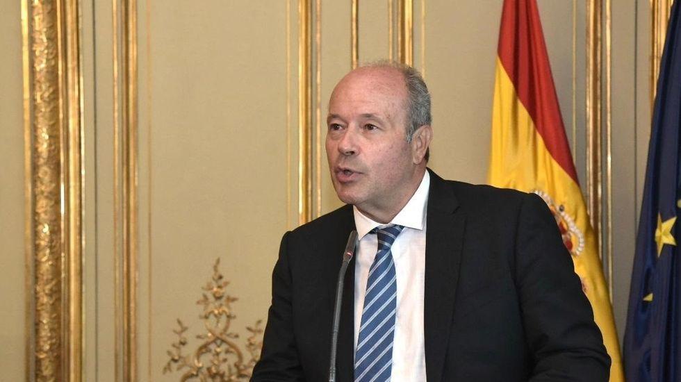 El Gobierno anuncia el inicio de la tramitación del indulto a los políticos presos independentistas.El ministro de Justicia, Juan Carlos Campo, en una imagen de archivo