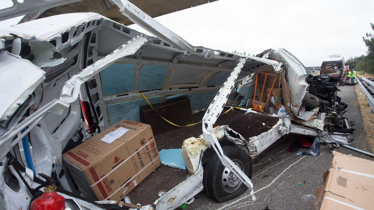 El accidente se produjo a las nueve de la mañana