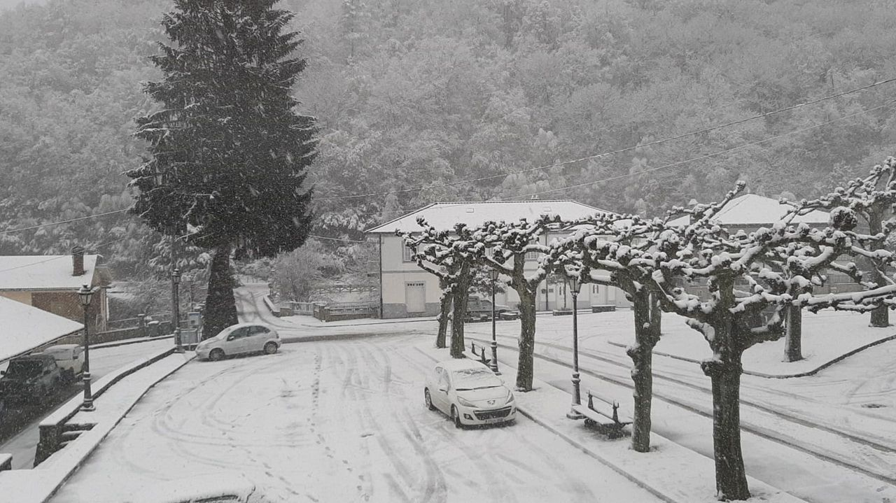 Dora también llevó la nieve a Triacastela