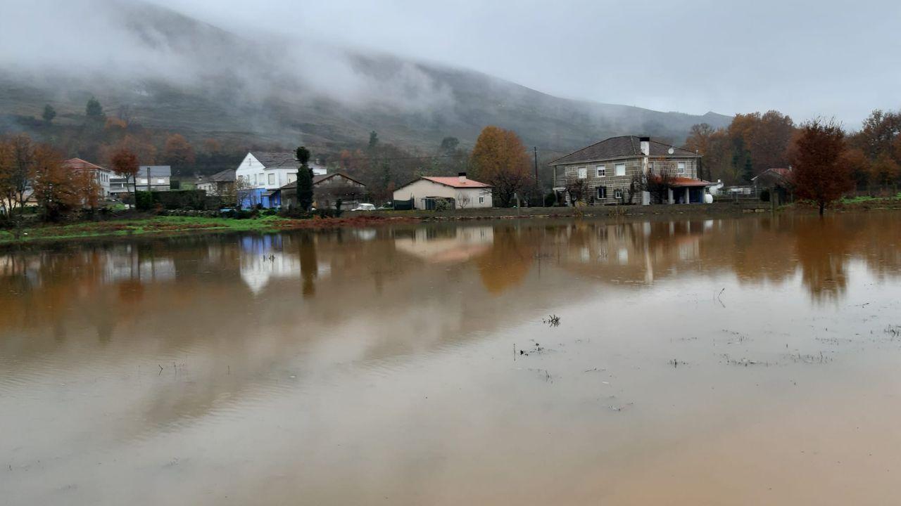 Así ha castigado el temporal a Ourense.El Parador de Santo Estevo es uno de los reclamos turísticos de Ribeira Sacra