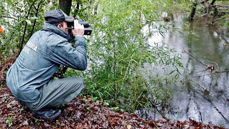 Dispositivo de búsqueda en el río Umia