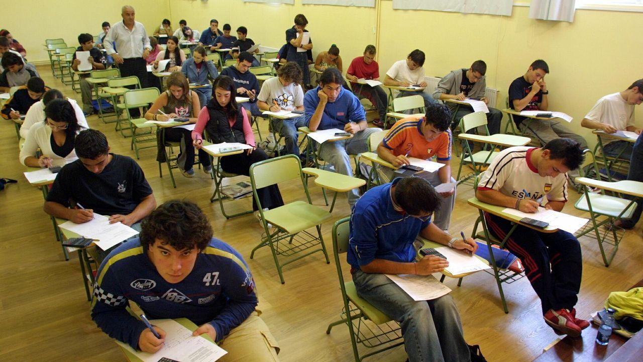 Belleza y trabajo duro en los entrenamientos de Sol Martínez.Una de las aulas de Secundaria del Colegio San Miguel de Gijón