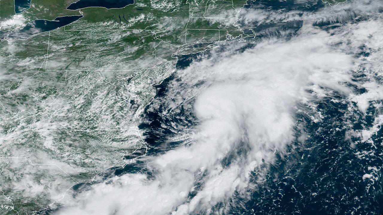 Imagen satelital del ciclón tropical Kyle frente a la costa este de Estados Unidos