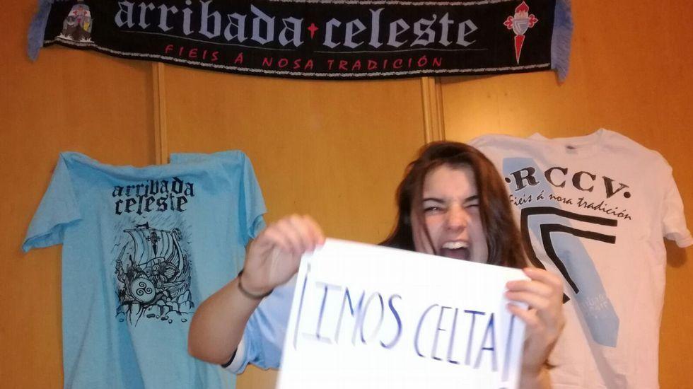 La fuerza de Ceci Peláez, de la peña baionesa Arribada Celeste, no le faltará al equipo
