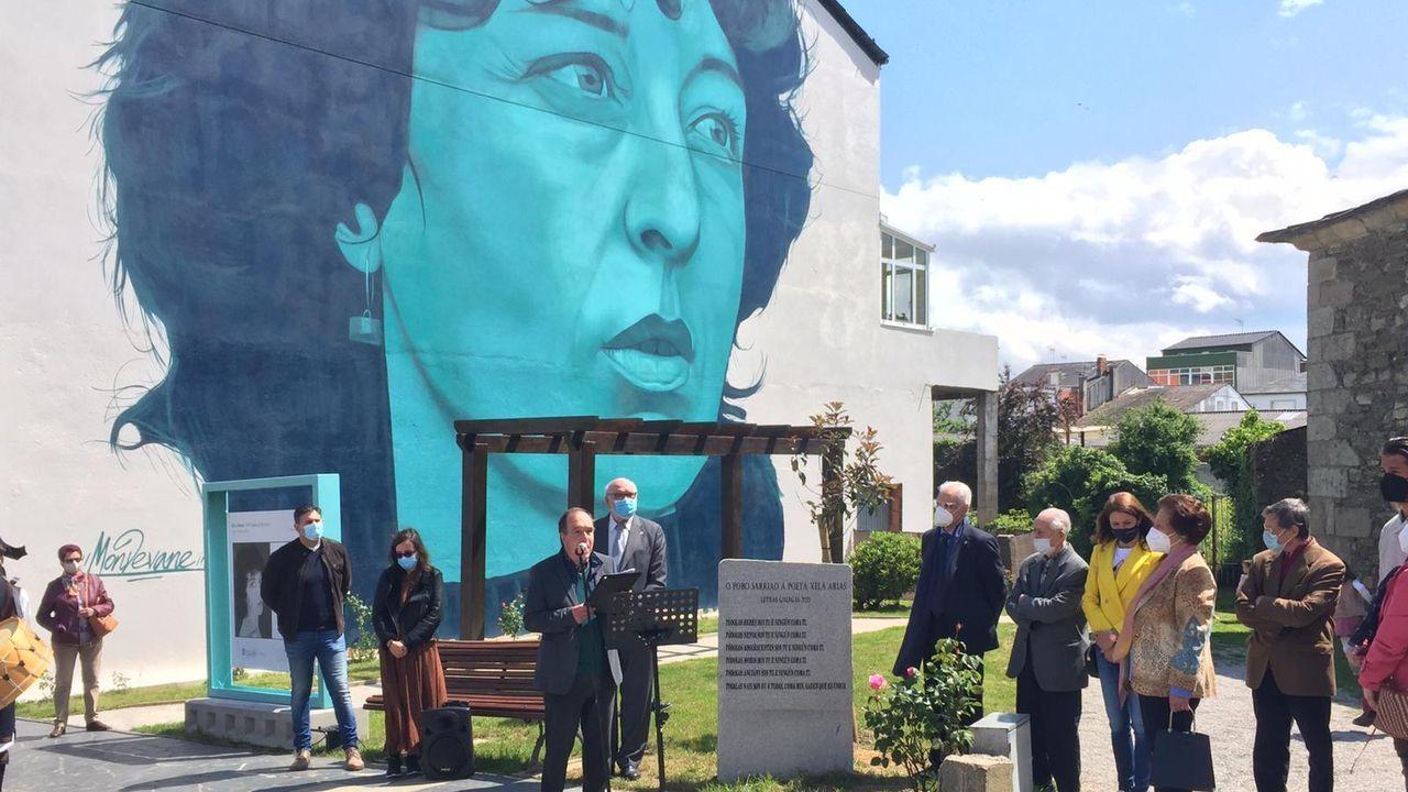 Homenaxe en Sarria a Xela Arias, que xa leva o nome dunha céntrica rúa