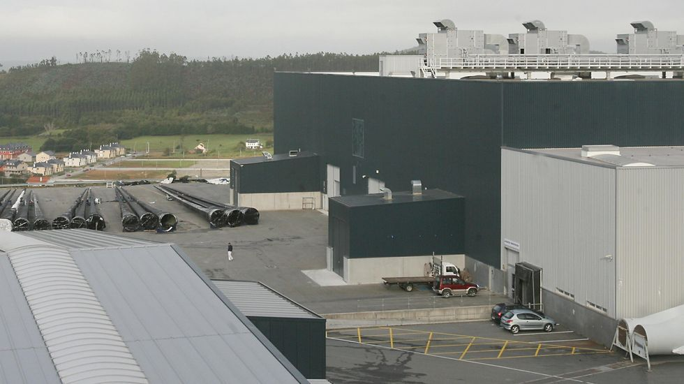 Imagen de archivo de las instalaciones de fabricación de palas en Gamesa en As Somozas.