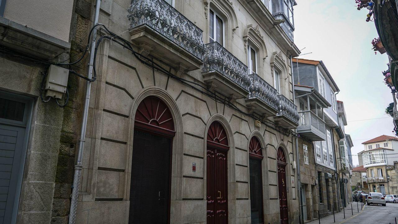 Casa, en la calle San Roque de Celanova, de los padres de la protagonista Viruca en la serie de Netflix «El desorden que dejas»