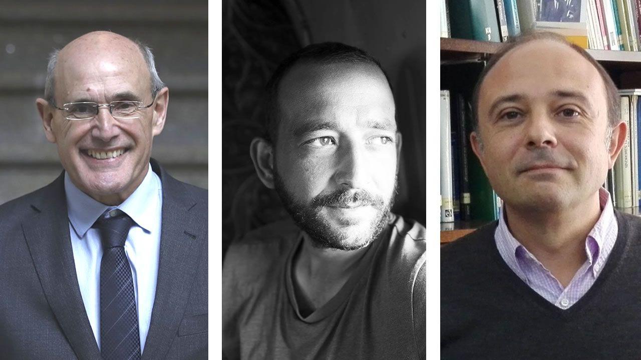 De izquierda a derecha: Rafael Bengoa, Julio Martínez Aniceto y Alberto Ruano Raviña