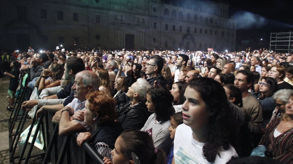 Público en el concierto de Carlos Baute en la Compañía, en las patronales del año pasado
