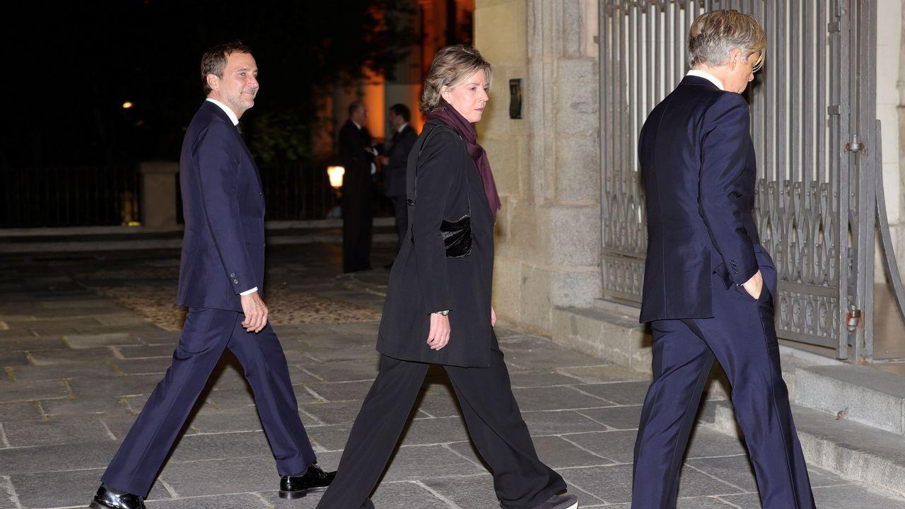 La aristócrata española, Simoneta Gómez-Acebo, asiste este miércoles al funeral del empresario Plácido Arango, fallecido el pasado 17 de febrero a los 88 años. EFE/JUANJO MARTÍN