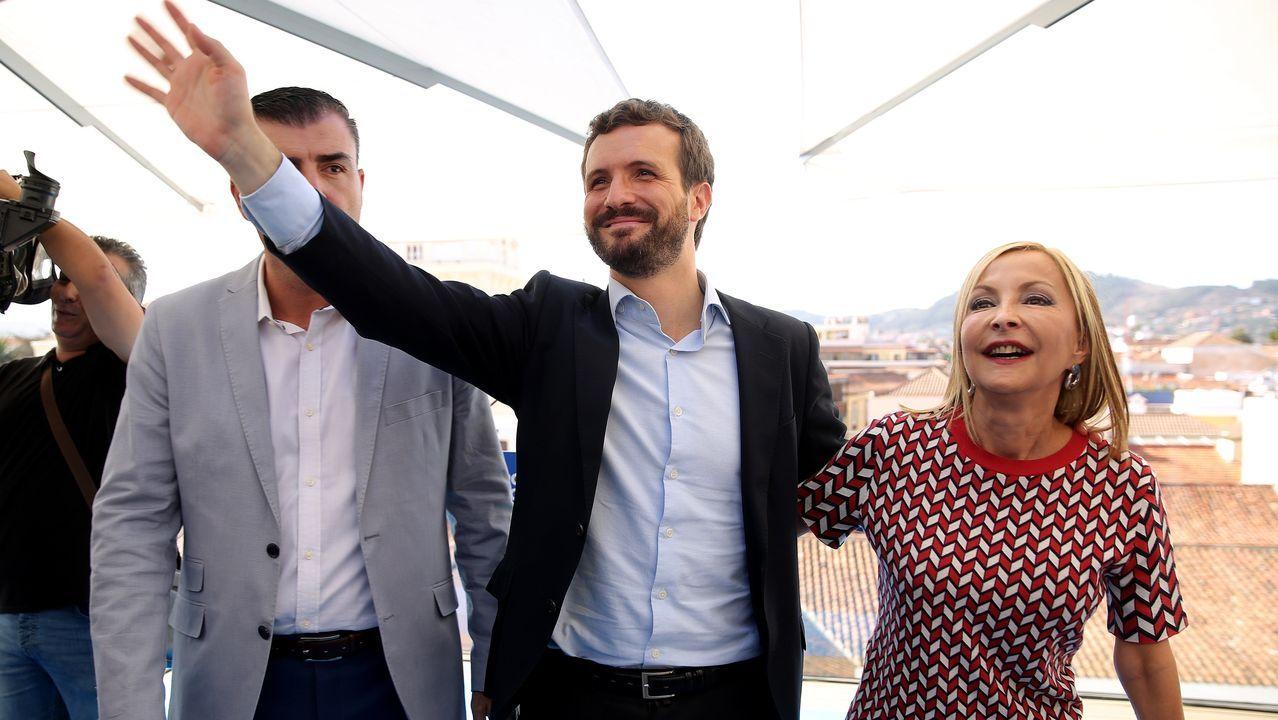 El candidato del PP a presidente del Gobierno, Pablo Casado