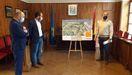 El vicepresidente Juan Cofiño, visita las obras de saneamiento en Piloña