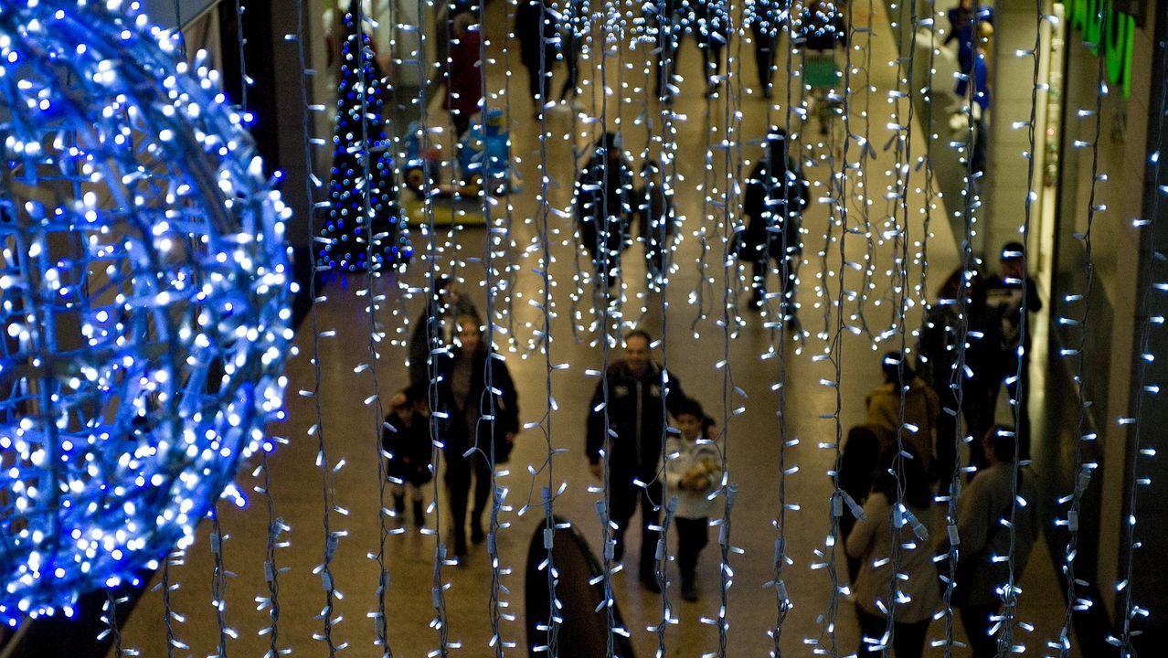 luces.Luces de Navidad en Vigo, el año pasado