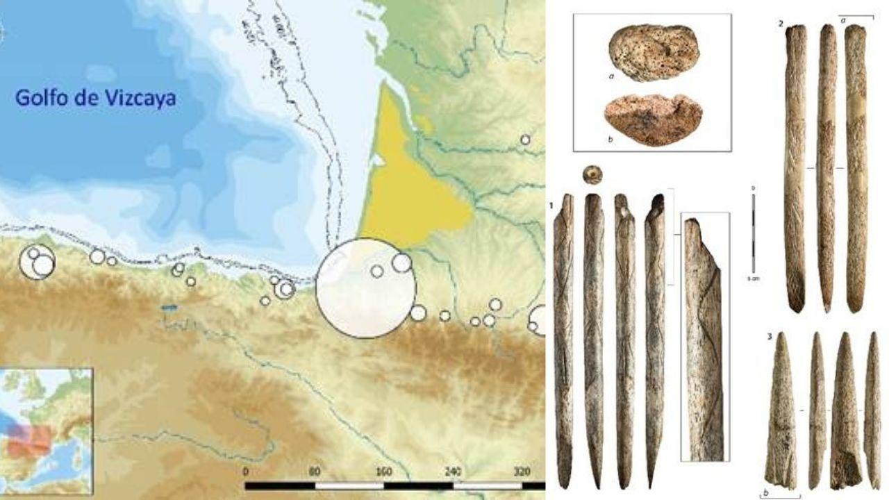 Mapa del descubrimiento y restos encontrados