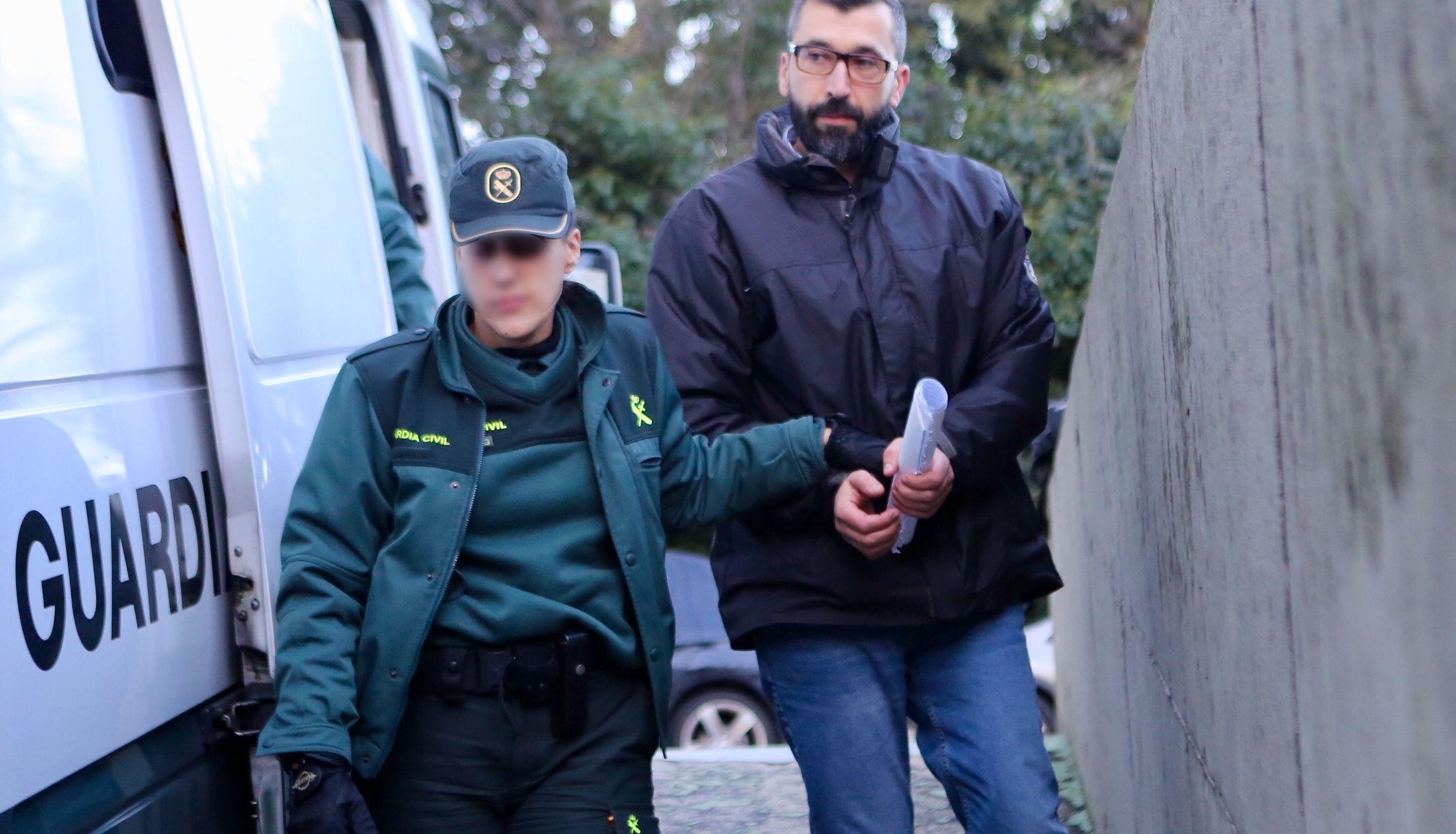 La quinta jornada del juicio contra César Adrio, en imágenes.César Adrio, acusado del asesinato de Ana Enjamio, durante el juicio