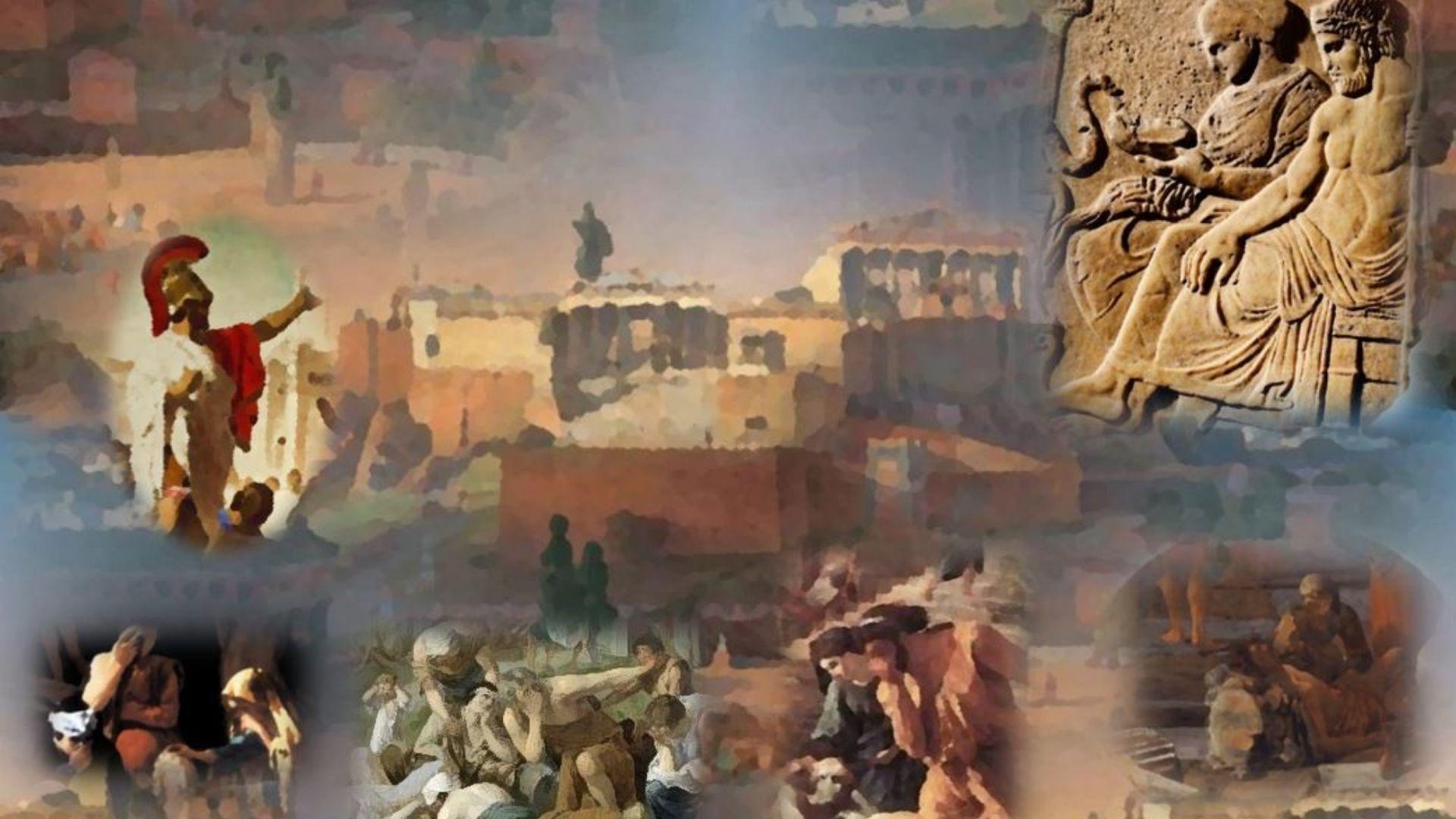 La peste de Atenas. Años 430BCE-426BCE. En el segundo año de la Guerra del Peloponeso una enfermedad, cuyo agente patógeno podría haber sido una fiebre tifoidea según las últimas investigaciones, asoló la ciudad de Atenas.