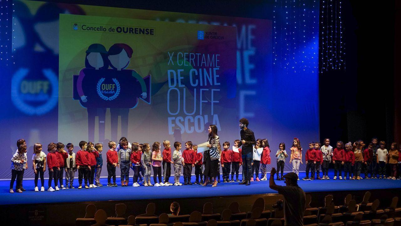 El OUFF Escola premia el cine en los colegios.Eefctos de un incendio forestal que se produjo en la parroquia de Trascastro en abril del 2017